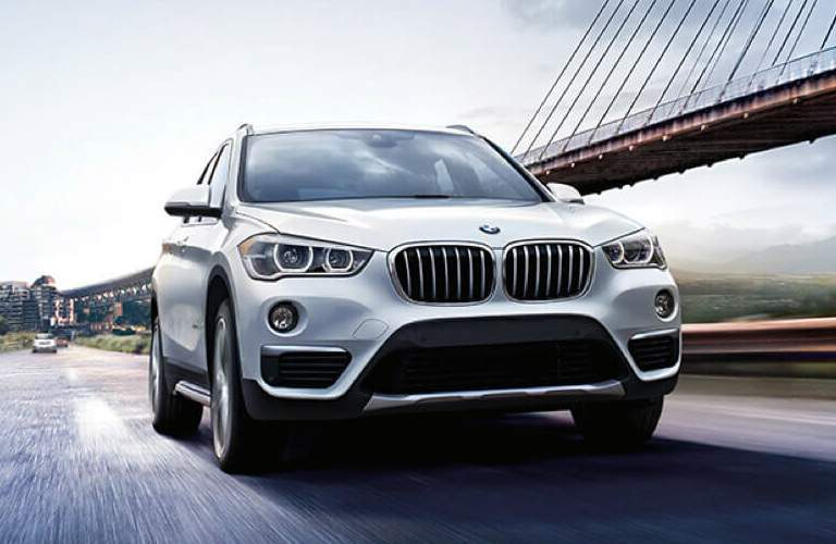 Front View of 2018 BMW X1 with White Exterior