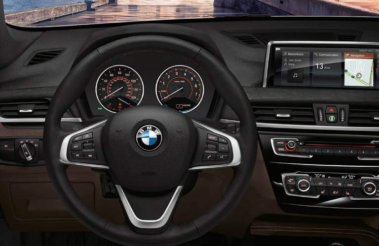 2018 BMW X1 Steering Wheel and Gauges