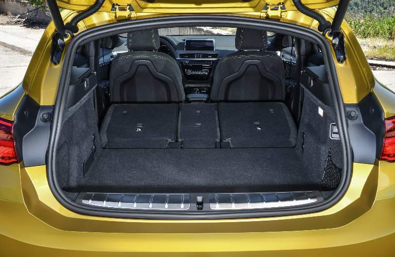 Cargo Area of Yellow 2018 BMW X2