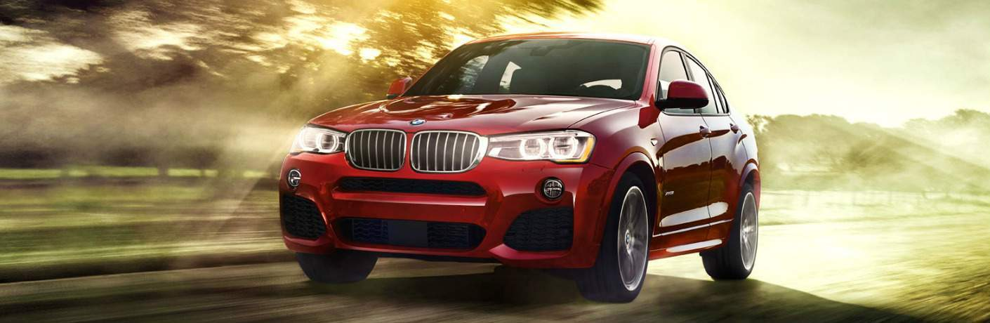Front View of Red 2018 BMW X4