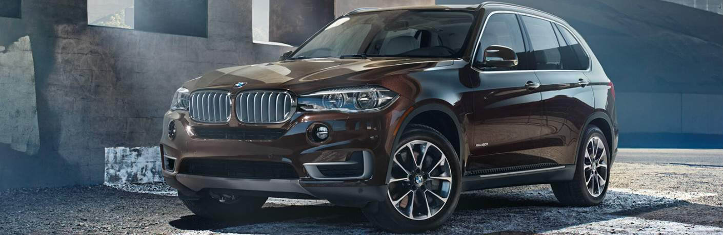 Front View of Brown 2018 BMW X5