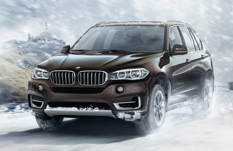2018 BMW X5 Driving Through the Snow