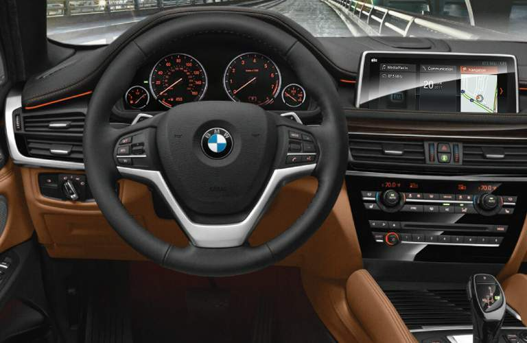 Steering Wheel, Gauges, and Touchscreen of 2018 BMW X6