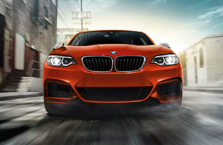 Front View of Red 2019 BMW 2 Series
