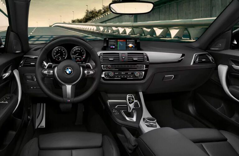 Dashboard and Black Seats in 2019 BMW 2 Series