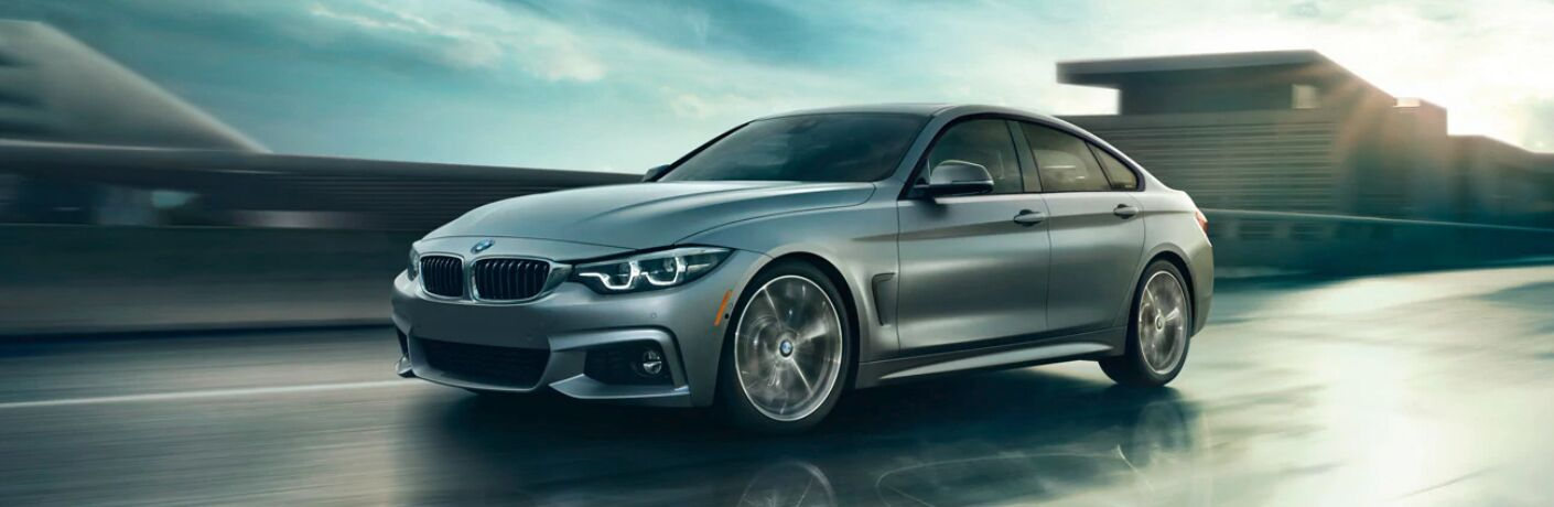 Side View of Grey 2019 BMW 4 Series