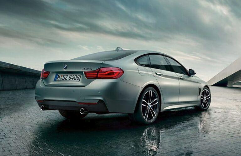Rear View of Grey 2019 BMW 4 Series