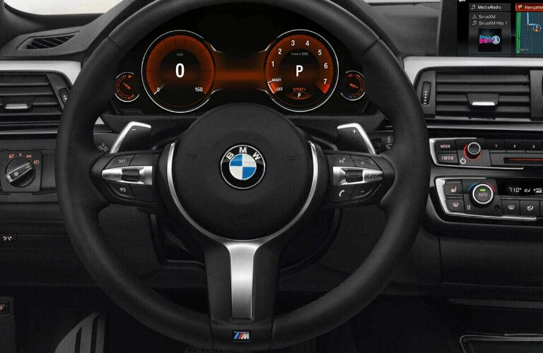 Steering Wheel, Gauges, and Touchscreen of 2019 BMW 4 Series