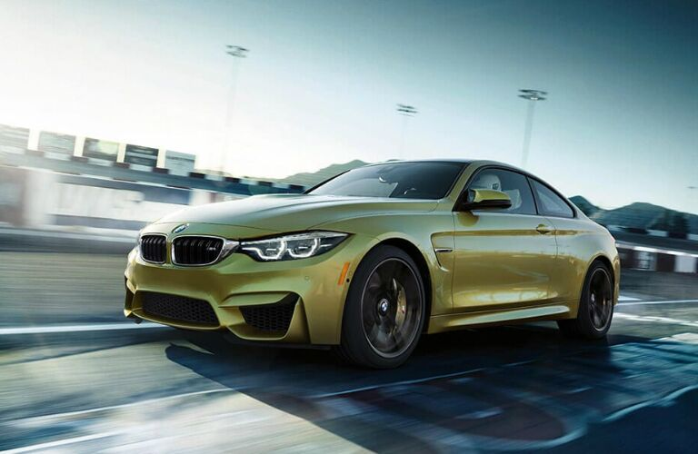 Front View of Yellow 2019 BMW M4