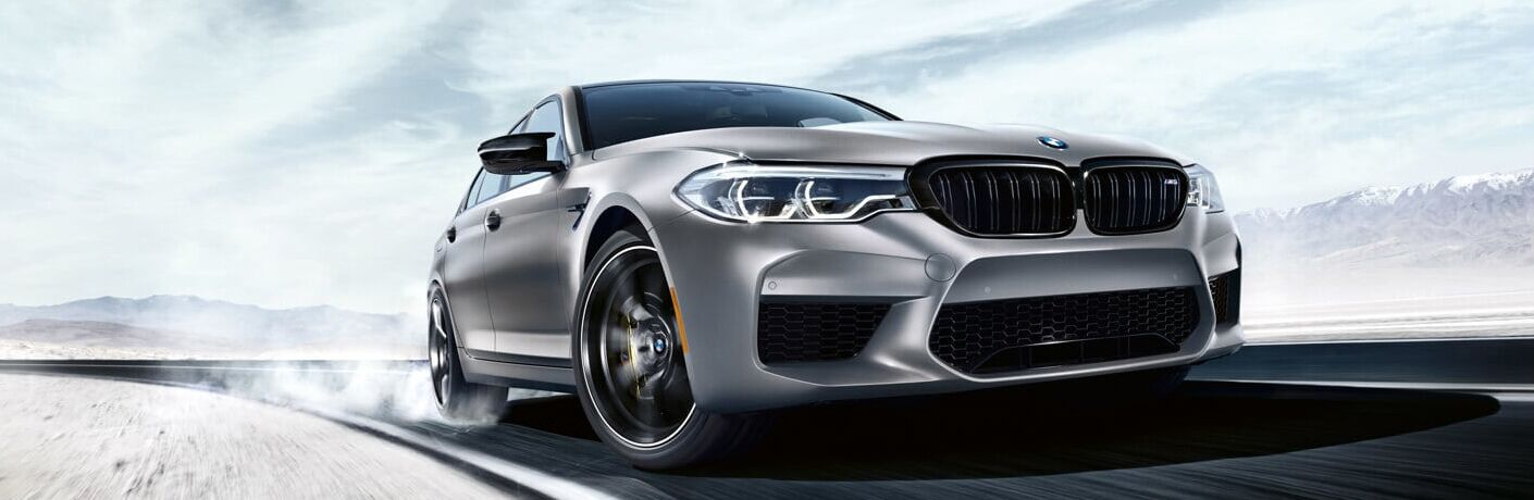 Front View of Grey 2019 BMW M5