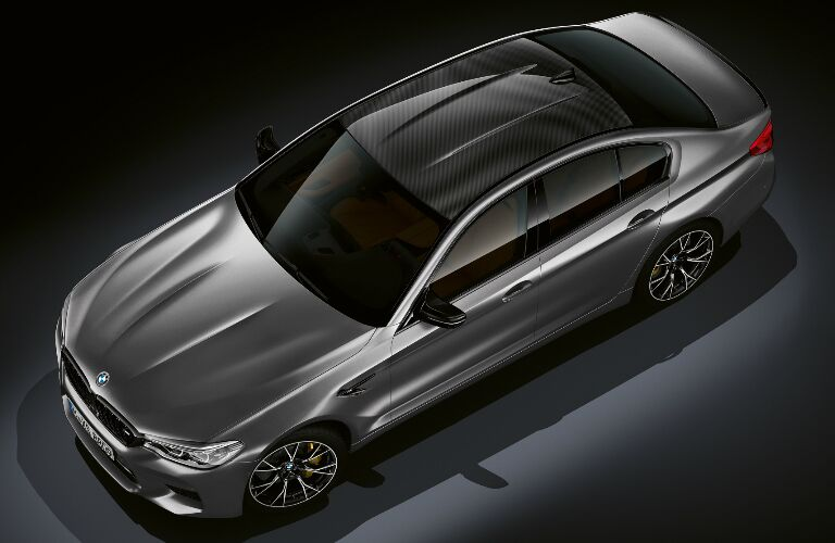 Overhead View of Silver 2019 BMW M5 Competition Sedan