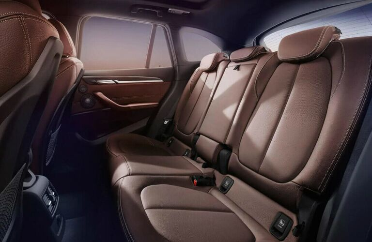 Brown rear seats in 2019 BMW X1