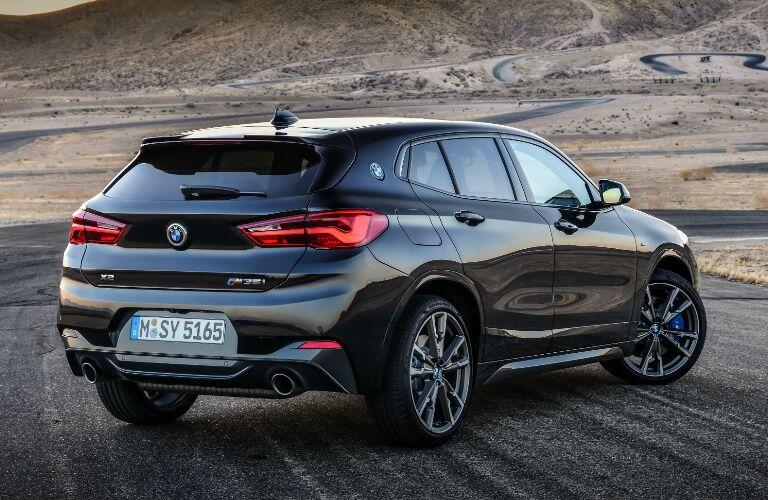 Rear View of Black 2019 BMW X2 M35i