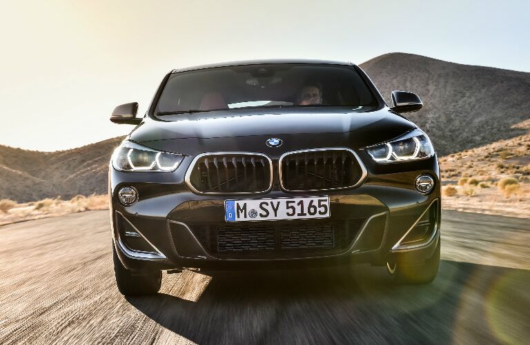 Front View of Black 2019 BMW X2 M35i