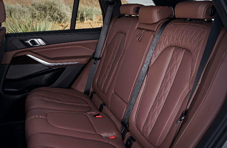 Brown Rear Seats of 2019 BMW X5