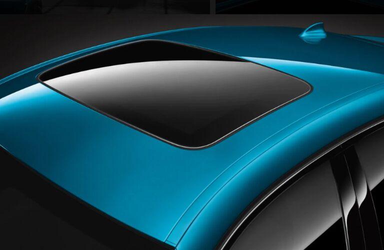 Moonroof on blue 2019 BMW X6 M