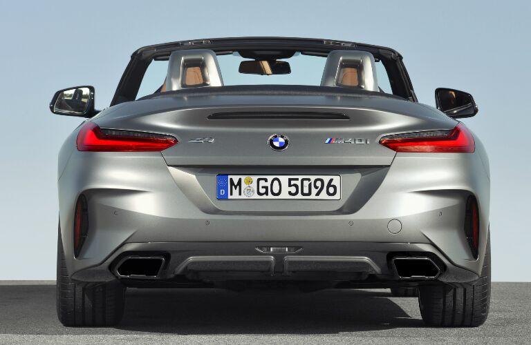 Rear  view of silver 2019 BMW Z4