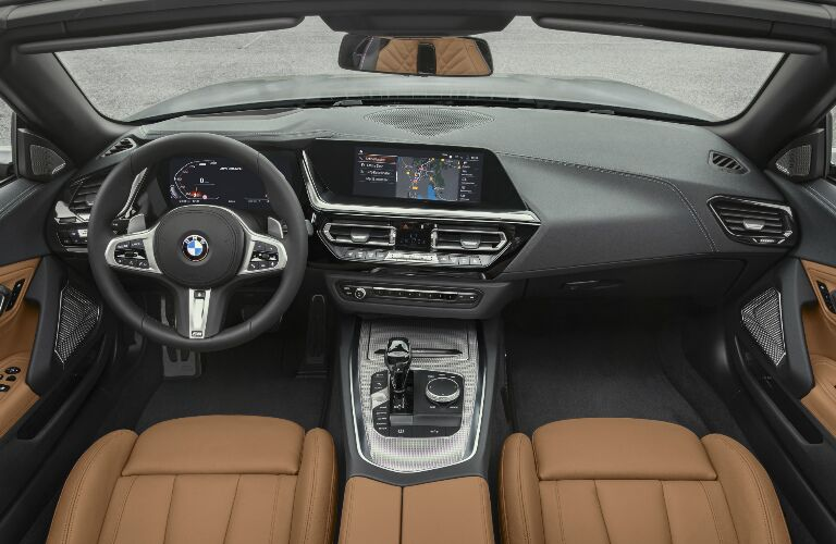 Dashboard and Brown Seats in 2019 BMW Z4 Roadster