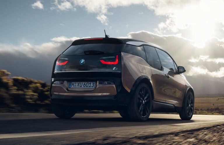 Rear View of Brown 2019 BMW i3