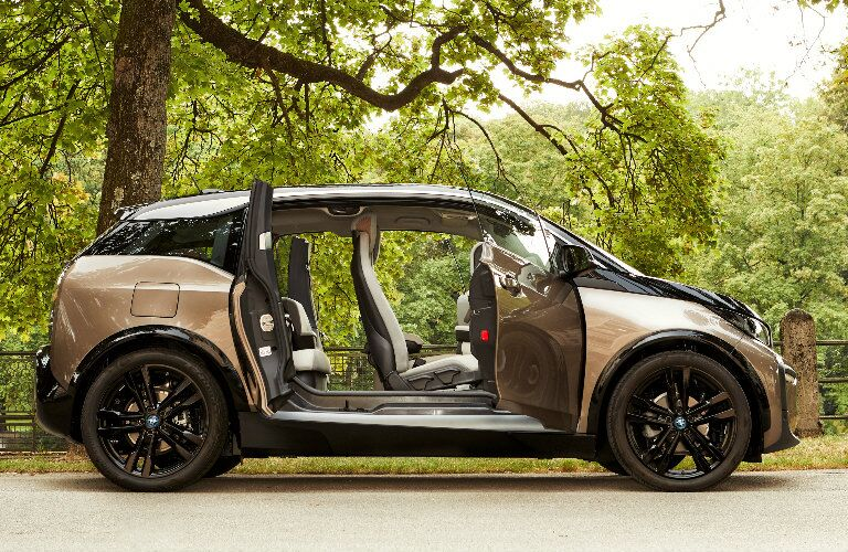 Brown 2019 BMW i3 with Open Doors