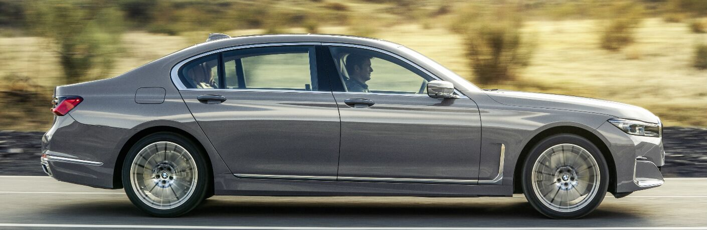 Side view of grey 2020 BMW 7 Series