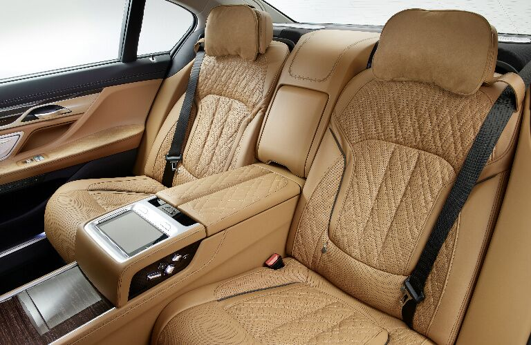 Brown rear seats in 2020 BMW 7 Series