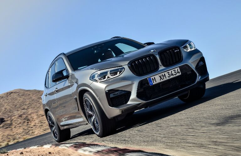 Front view of silver 2020 BMW X3 M