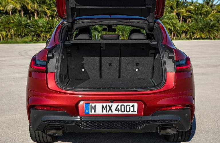 Cargo Area of Red 2019 BMW X4
