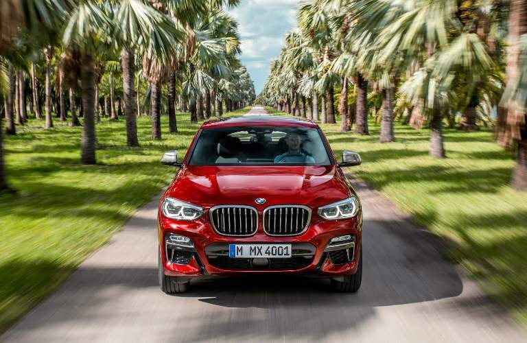 Front View of Red 2019 BMW X4