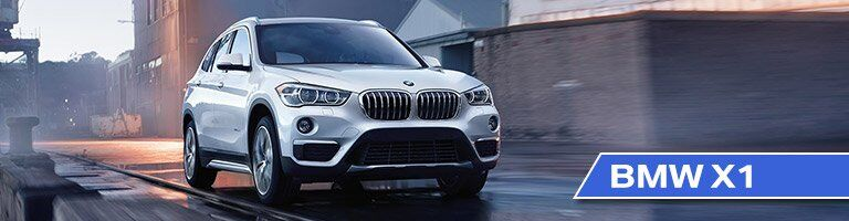 Front View of 2017 BMW X1 with White Exterior