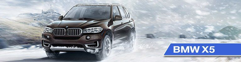 2017 BMW X5 with Brown Exterior Driving in the Snow