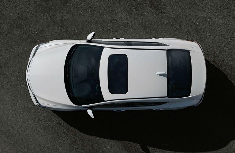 2017 Acura ILX Pittsburgh PA White Overhead Angle Sunroof
