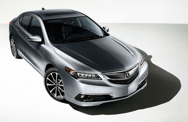 silver 2017 Acura TLX front end