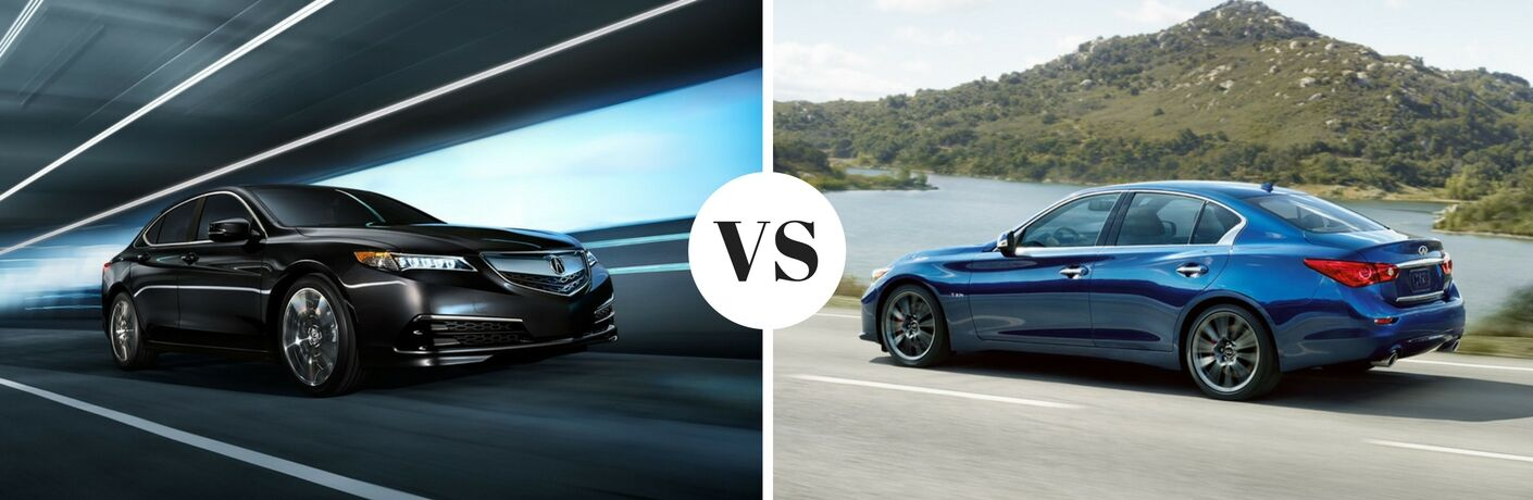 2017 Acura TLX vs 2017 Infiniti Q50