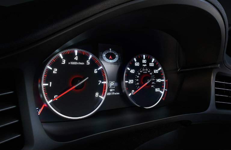The large dials on the gauge cluster have a racing vibe