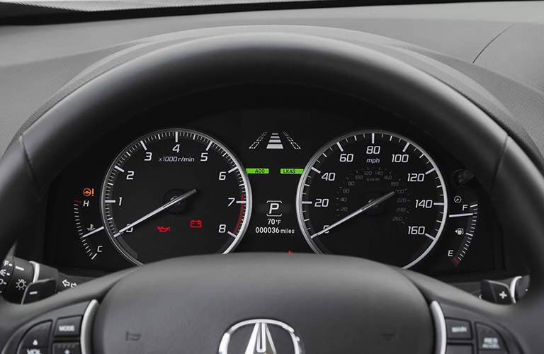 The center gauge cluster is cleanly laid out and easy to read