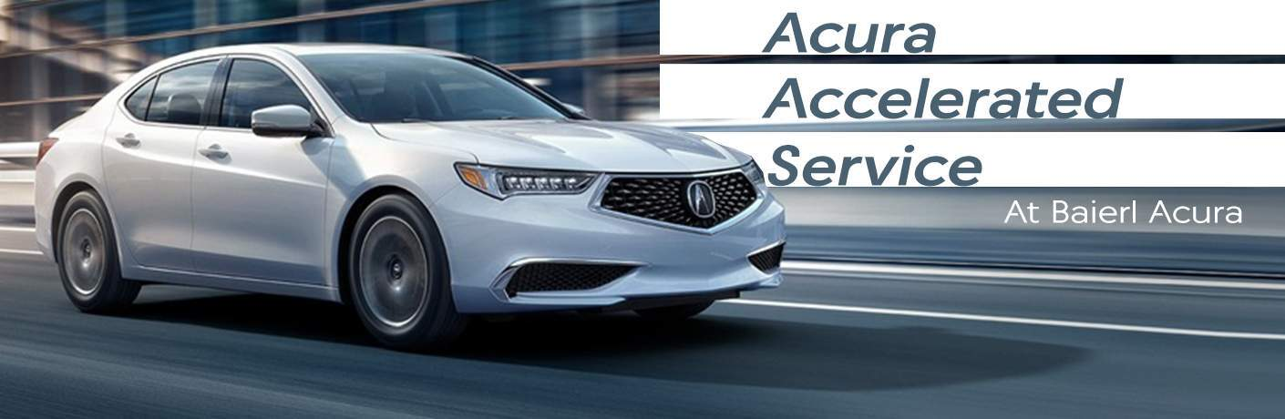 What does Acura's Accelerated Service offer?