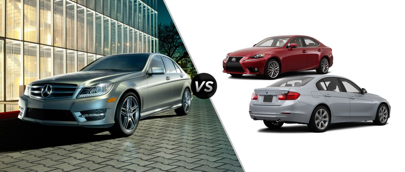 2014 Mercedes-Benz C-Class vs. IS and 3-Series