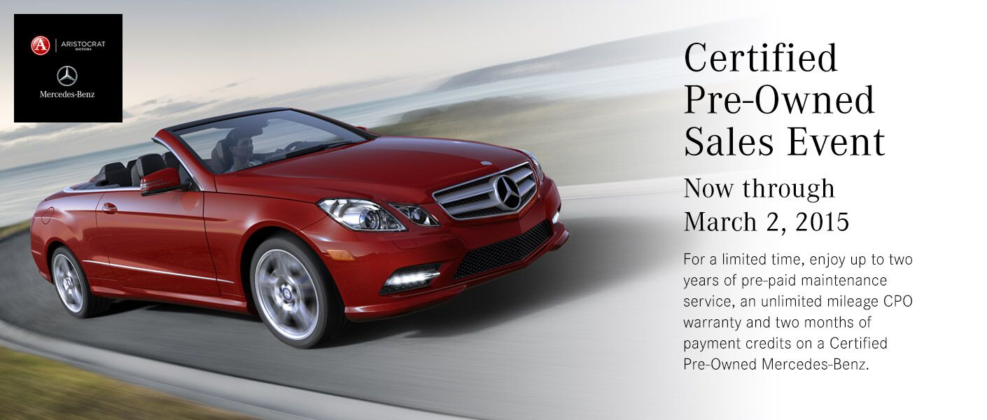 Mercedes benz certified pre owned sales event merriam ks for Mercedes benz certified pre owned financing