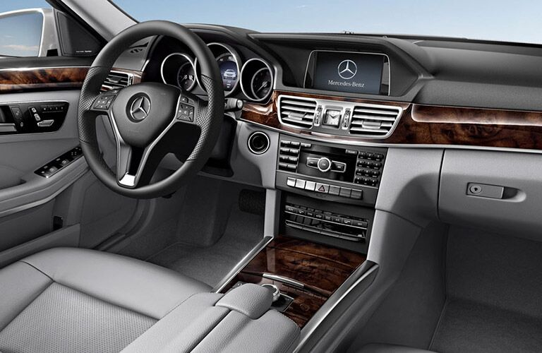 steering wheel and dashboard of the 2015 Mercedes-Benz E-Class