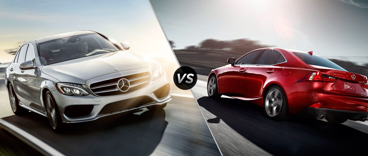 2015 Mercedes-Benz C-Class vs 2015 Lexus IS