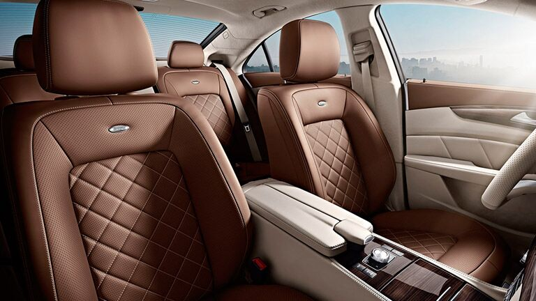 view of the brown leather seats of the 2016 Mercedes-Benz CLS