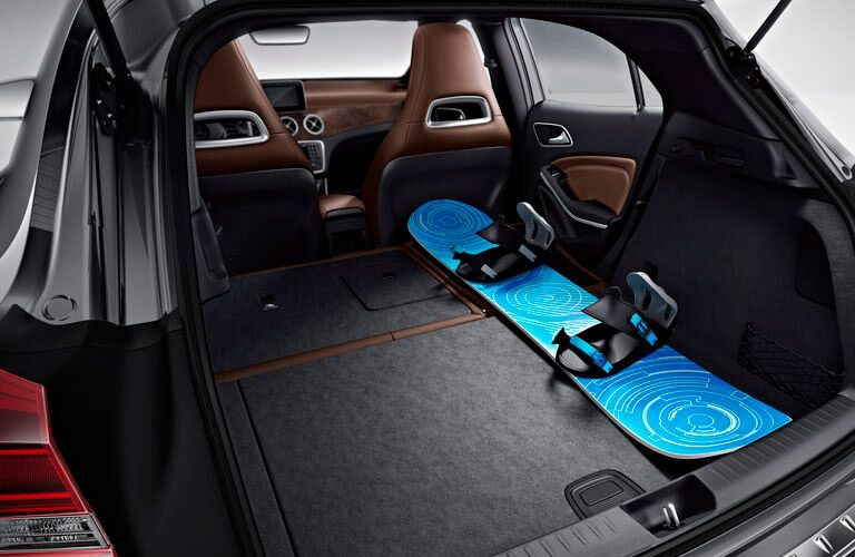 spacious cargo area of the 2016 Mercedes-Benz GLA