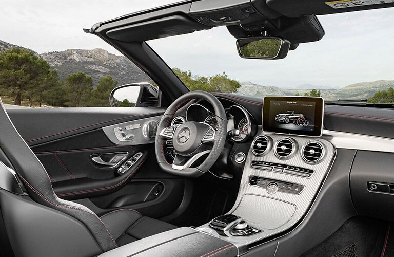 driver cockpit of the 2017 Mercedes-Benz AMG C63 Cabriolet