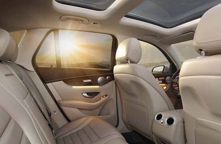 2017 Mercedes-Benz GLC rear seat view