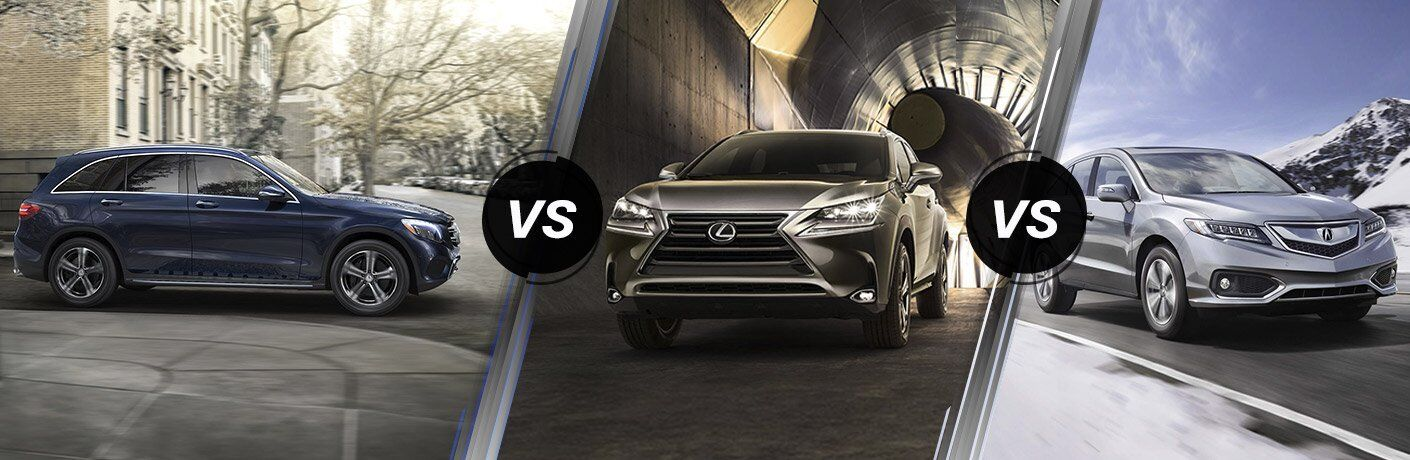 2017 Mercedes-Benz GLC vs Lexus NX vs Acura RDX