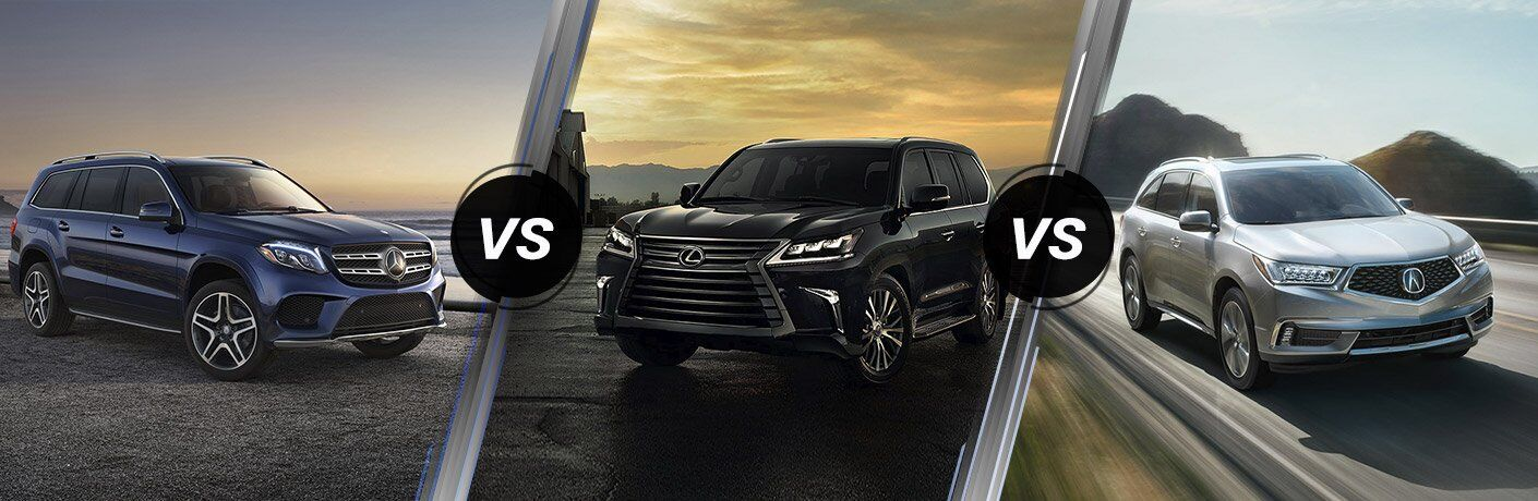 2017 Mercedes-Benz GLS vs 2017 Lexus LX  vs 2017 Acura  MDX