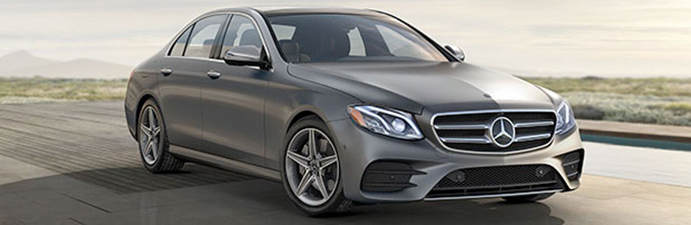 front and side view of the 2018 Mercedes-Benz E 300