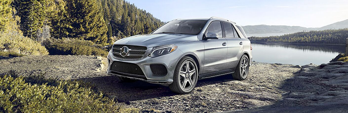 2018 Mercedes-Benz GLE 350 parked in front of water and trees