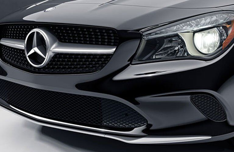 grille and front light close-up on the 2018 Mercedes-Benz CLA